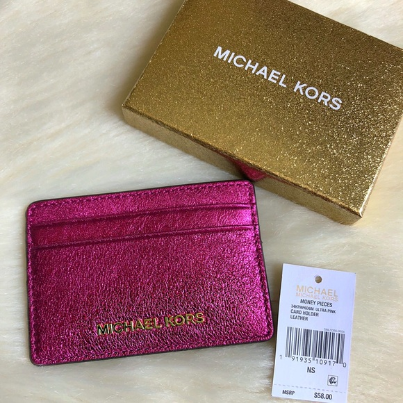 03f5782022bf 🌟Authentic Michael Kors Card Holder Ultra Pink 🌟